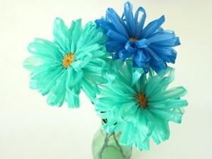 Plastic bags flowers