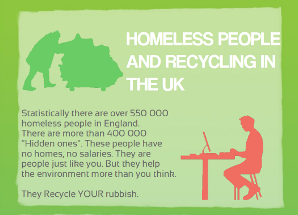 Homeless People and Recycling in UK