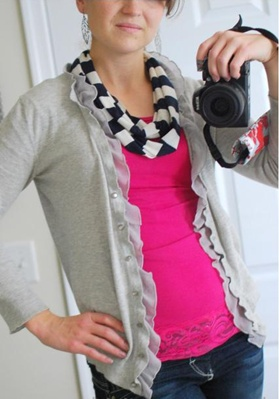 simple skinny circle scarf