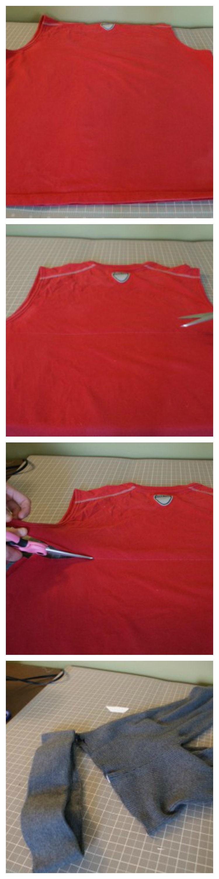 t-shirt skirt DIY