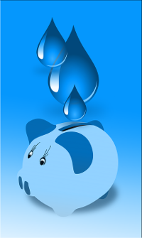 save the water resources pigy bank