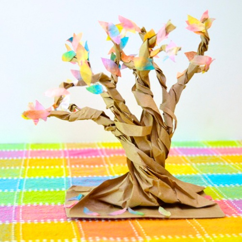 Autumn Tree Paper Sculpture