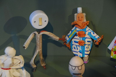 figures from recycled materials