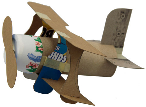 Toilet Paper Roll Mini Plane