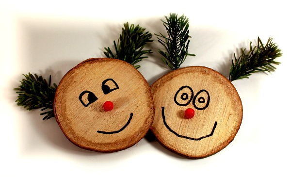 DIY projects, wooden raindeer faces, Christmas decorations