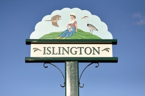 islington village sign