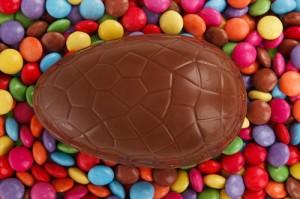 Homemade Chocolate Easter Egg