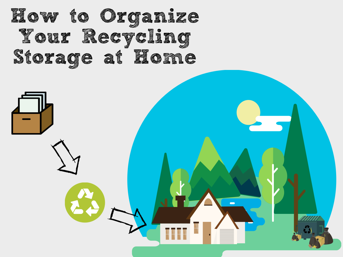 How to organize your recycling storage at home rubbish please for How to organize your home