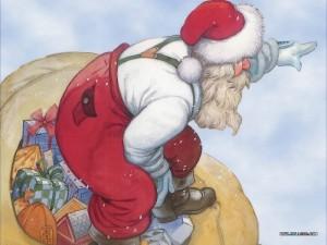 Secret Santa bearing gifts