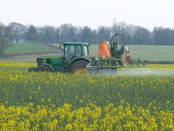 land pollution from spraying with herbicides