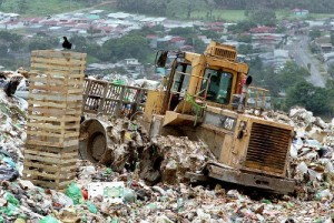 a landfill- source of land pollution
