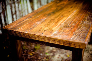 Wooden table ready for spring cleaning