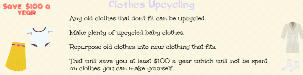 upcycle old clothes to save money
