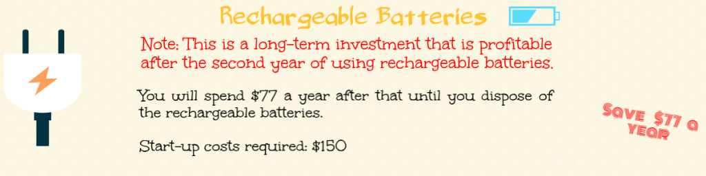 rechargeable batteries that save money