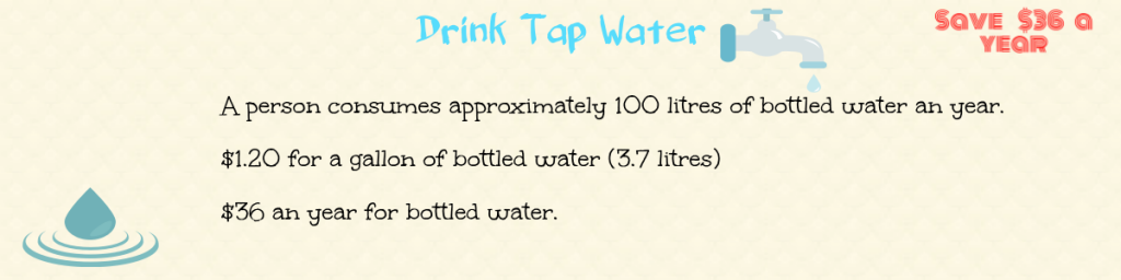 drink tap water to save money