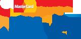 We accept: MasterCard, Visa