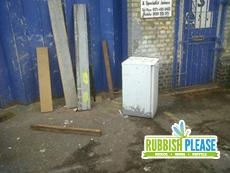 fridge and planks disposal