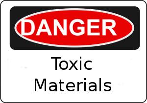 Toxic Materials Sign